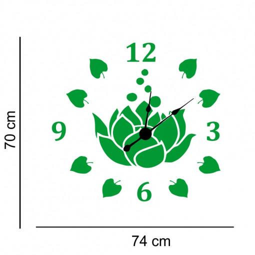 Sticker decorativ ceas Floare de Lotus