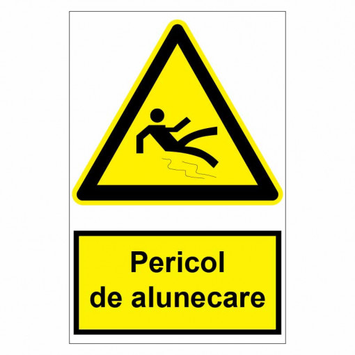 Sticker indicator Pericol de alunecare