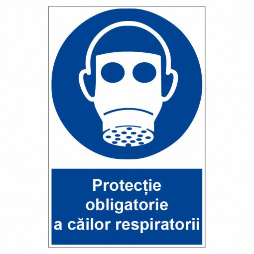 Sticker indicator Protectie obligatorie a cailor respiratorii 2