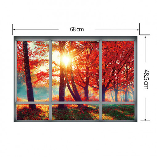 Sticker perete Autumn 3D Window