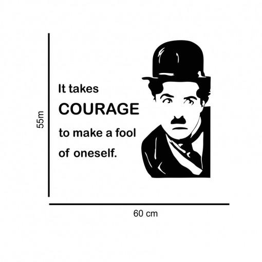 Sticker perete Charlie Chaplin - Courage
