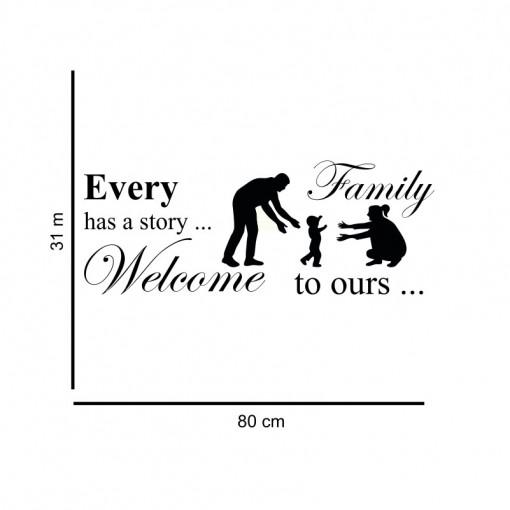 Sticker perete Family 4