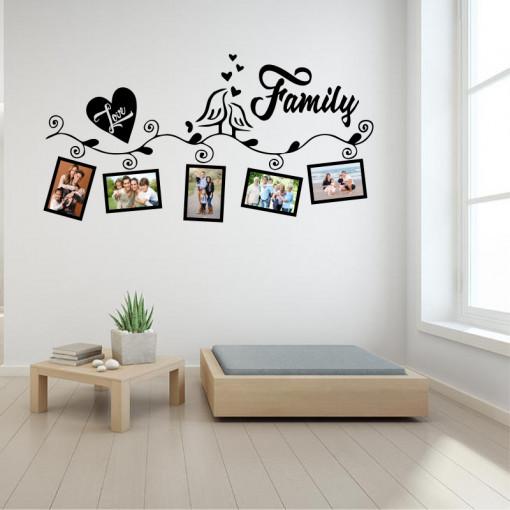 Sticker perete Family Love (5 rame foto)