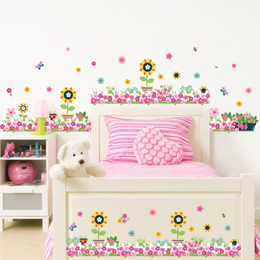 Sticker perete / geam Happy Flowers