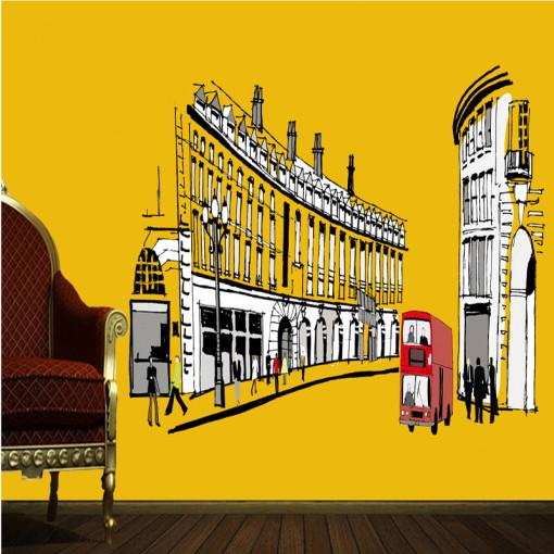 Sticker perete London Streets