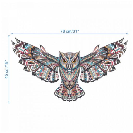 Sticker perete Magical owl 78 x 45 cm