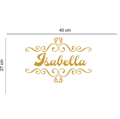 Sticker perete personalizat My Name Girl 15