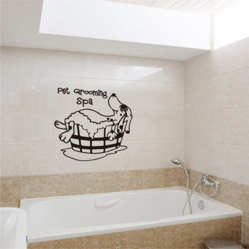 Sticker perete Pet Grooming Spa