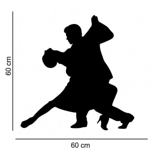 Sticker perete Siluete dansatori tango