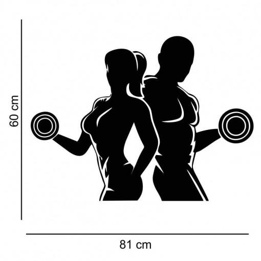 Sticker perete Siluete fitness