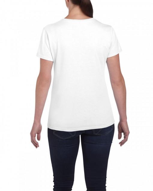 Tricou personalizat dama alb Cea mai Fericita Nasica Baietel S