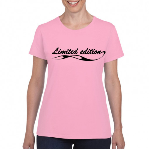 Tricou personalizat dama roz Limited Edition