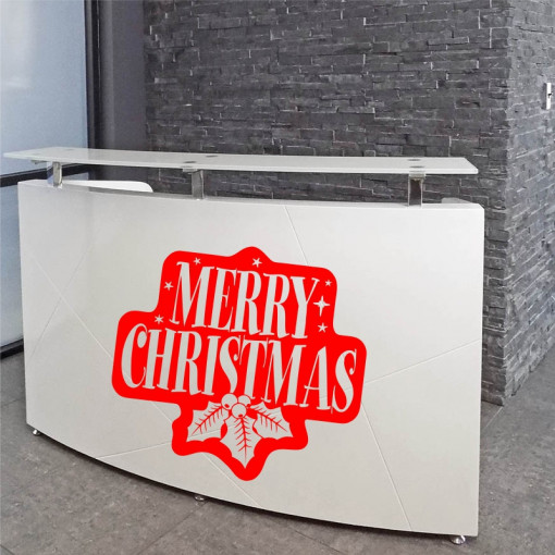 Sticker decorativ Ornament Merry Christmas