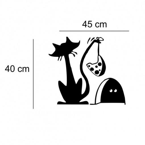 Sticker frigider Pisica Neagra