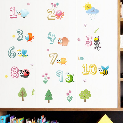 Sticker perete Cifre cu Animale