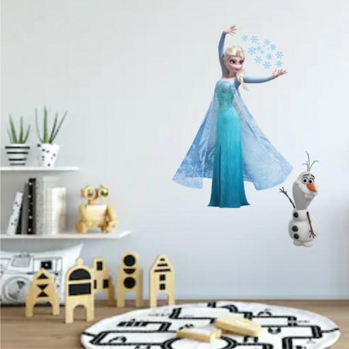 Sticker perete Elsa & Olaf Frozen