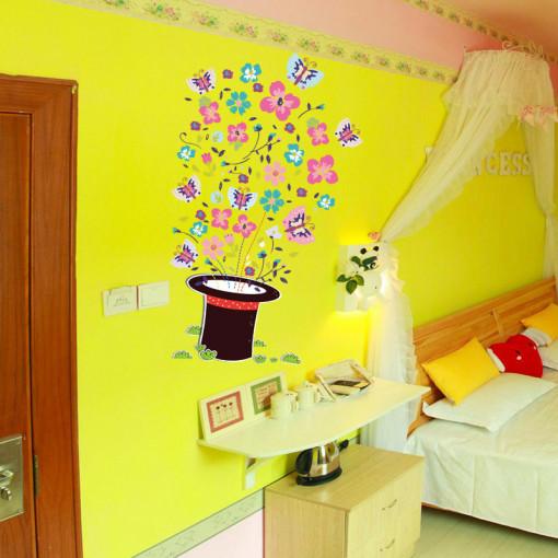 Sticker perete Flower Hat