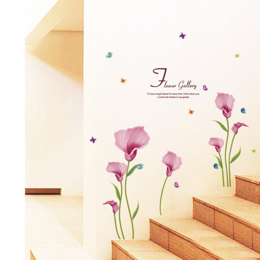 Sticker perete Flowers&Quotes 60x90 cm