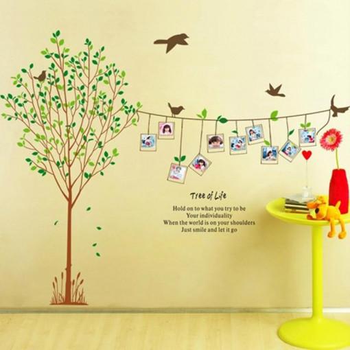Sticker perete Memories Tree 2 (10 rame foto)