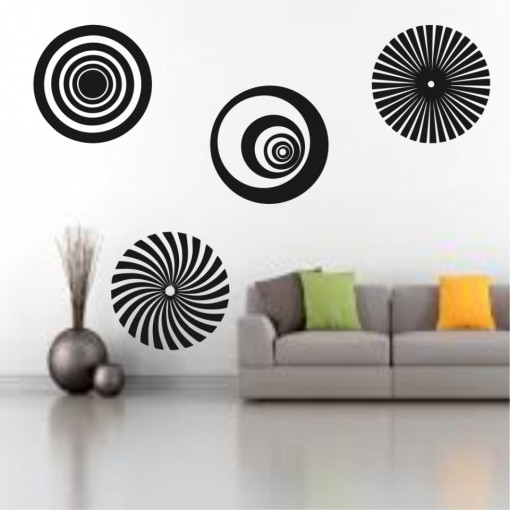 Sticker perete Optical Illusion Circles