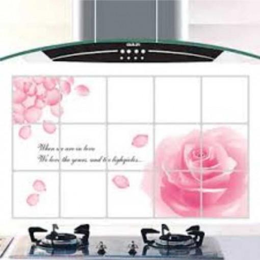 Sticker perete Pink Rose Kitchen Decor XL