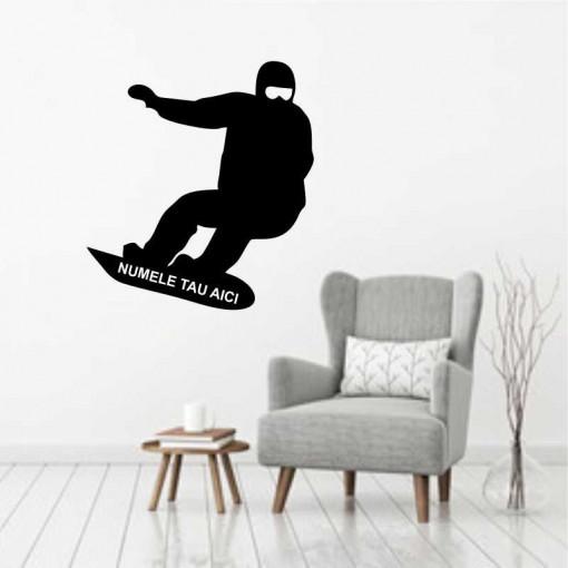 Sticker perete Silueta snowboard 2