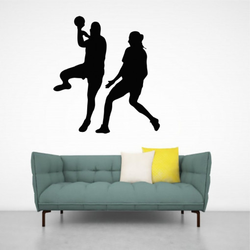 Sticker perete Siluete Jucatoare Handbal