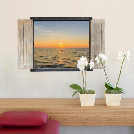 Sticker perete Sunset 3D Window