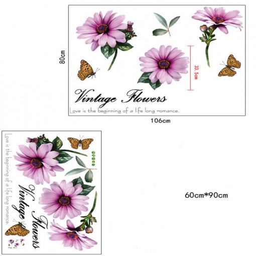 Sticker perete Vintage Flowers