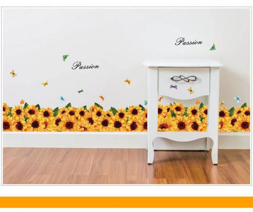 Sticker Sunflowers perete / geam