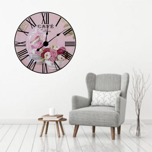Sticker decorativ ceas Paris Café