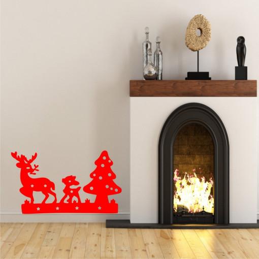 Sticker decorativ Familie de Reni