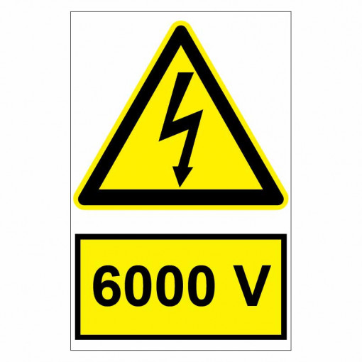 Sticker indicator 6000V