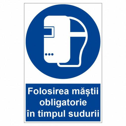 Sticker indicator Folosirea mastii obligatorie in timpul sudurii