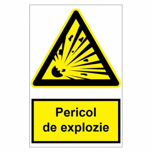 Sticker indicator Pericol de explozie