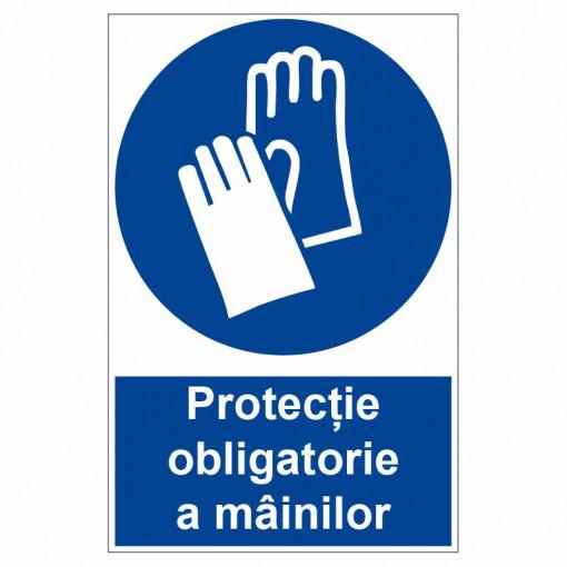 Sticker indicator Protectie obligatorie a mainilor