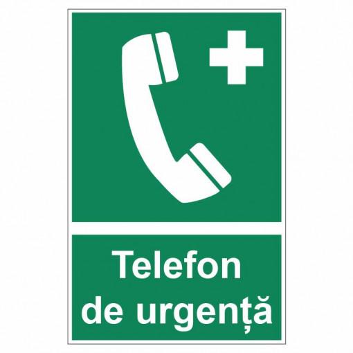 Sticker indicator Telefon de urgenta