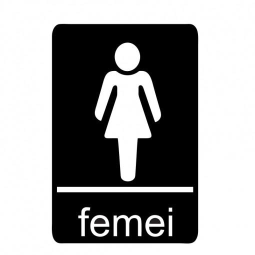 Sticker Indicator Toaleta femei