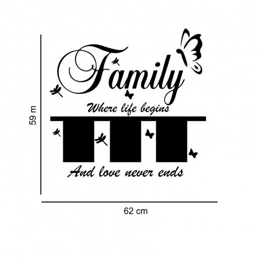 Sticker perete Family Photo Frames (3 rame foto)