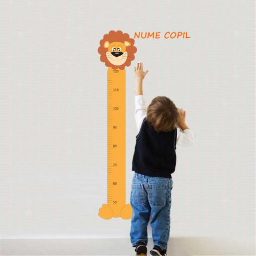 Sticker metru masurare inaltime copii Leu 1