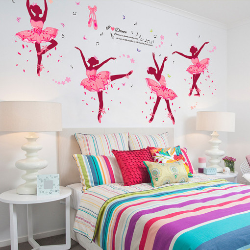 Sticker perete it is all about dancing! Ballerina 60x90 cm