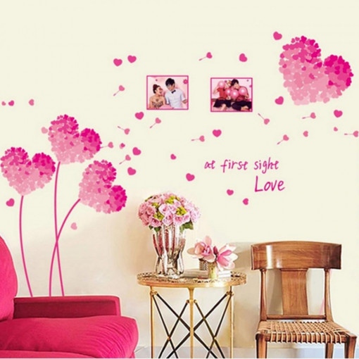 Sticker perete Love is in the air 125 x 96 cm (foto 14,5 x 12 cm)