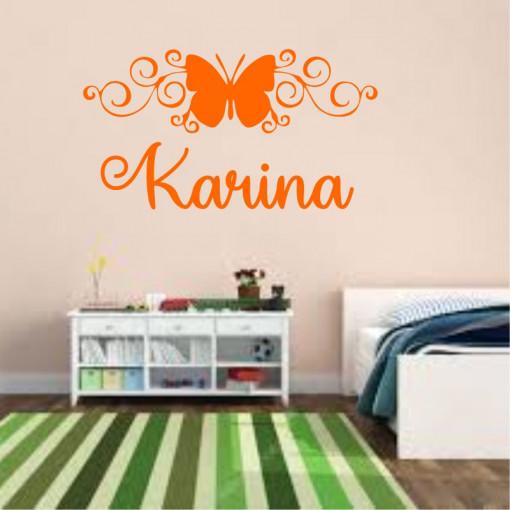 Sticker perete personalizat My Name Girl 11