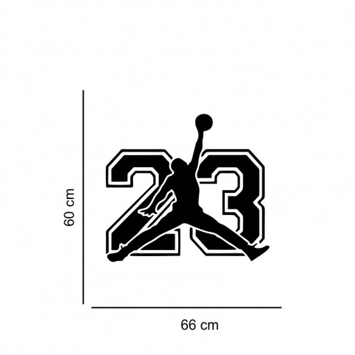 Sticker perete Silueta Jordan No.23