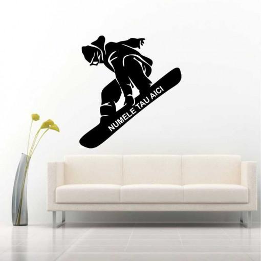 Sticker perete Silueta snowboard 1
