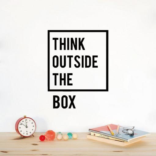 Sticker perete Think Outside The Box