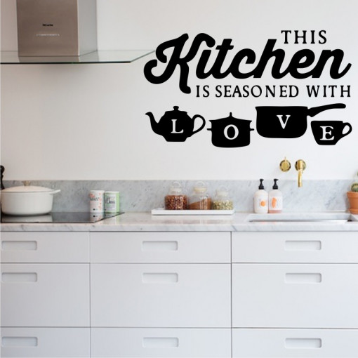 Sticker perete This Kitchen is Seasoned with Love
