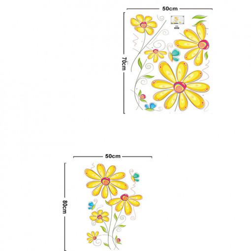 Sticker perete Yellow Flower