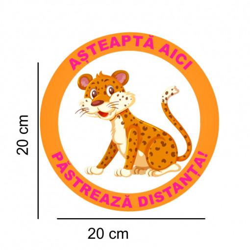 Sticker podea Asteapta Aici Jaguar