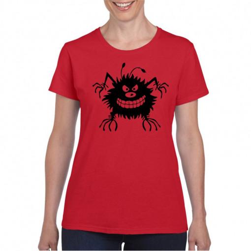 Tricou personalizat dama rosu Bug